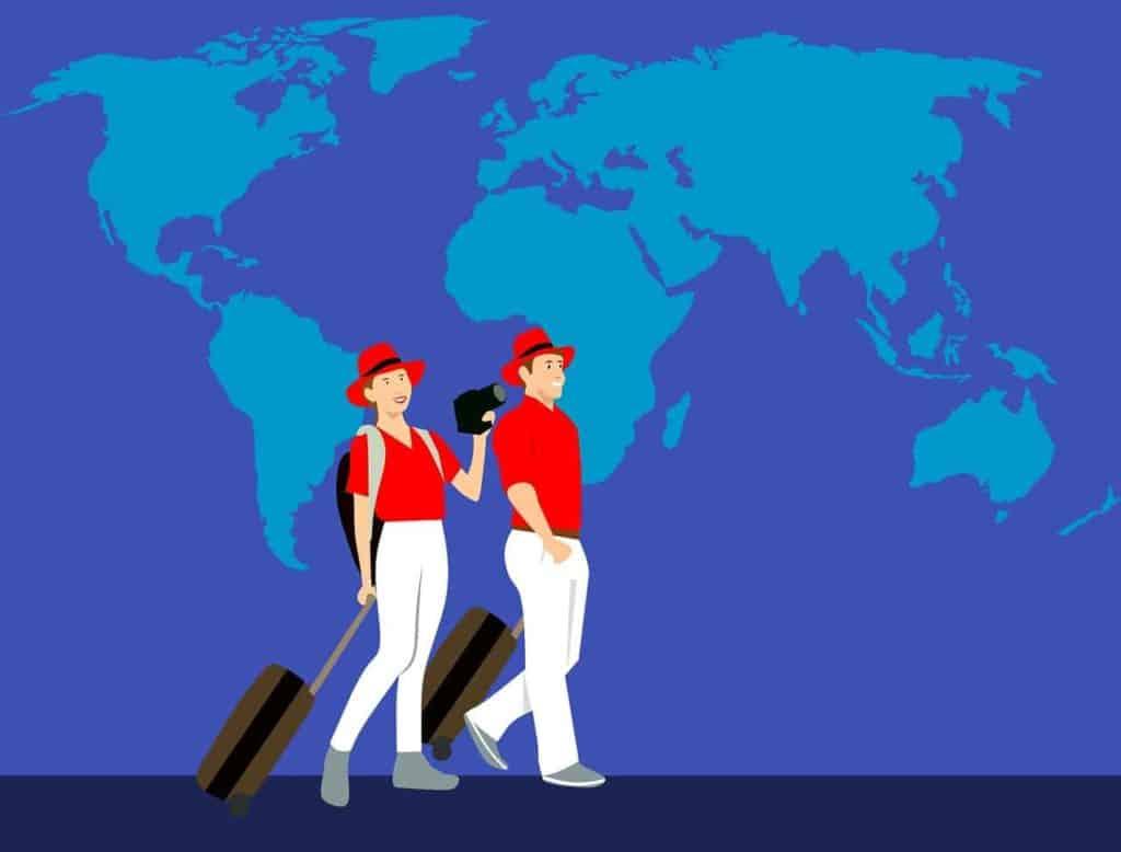 זוג מטיילים