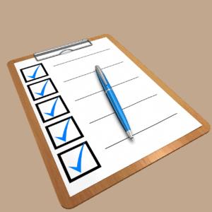 רשימה שנבדקה וסומנה