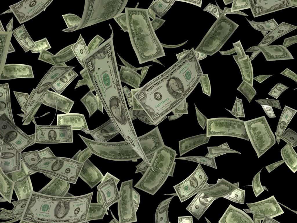 דולרים מתעופפים באוויר